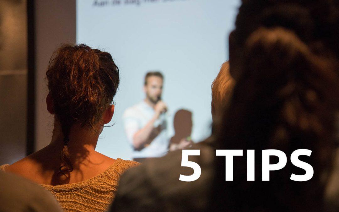 5 tips voor een goede presentatie